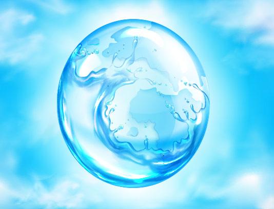 وکتور کره آب با کیفیت