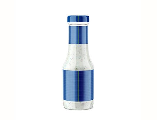 موکاپ بطری شیشه ای سس سفید