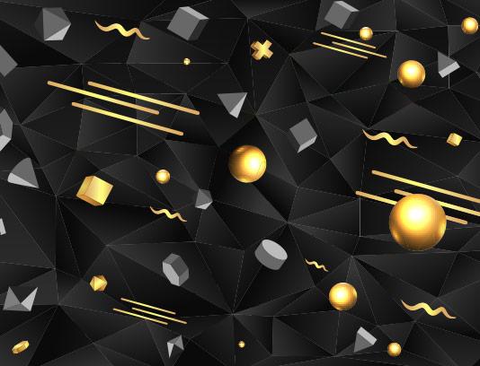 وکتور زمینه سه بعدی اشکال هندسی