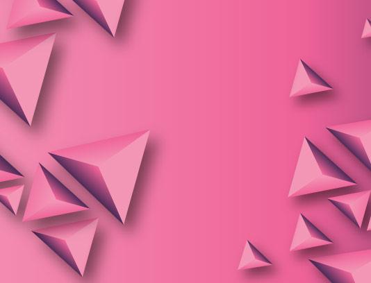 وکتور بکگراند مثلث سه بعدی صورتی