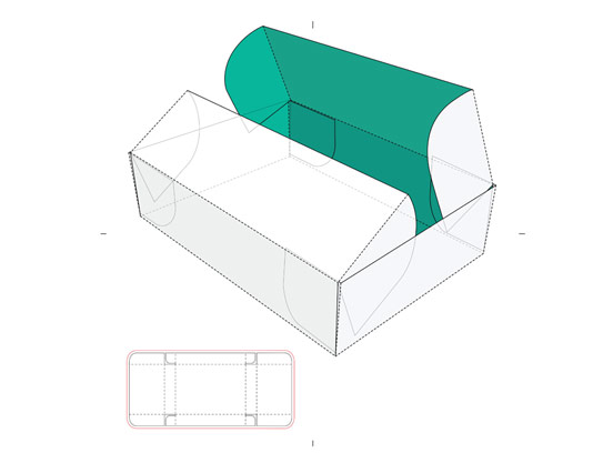 وکتور صفحه گسترده جعبه مکعب مستطیل