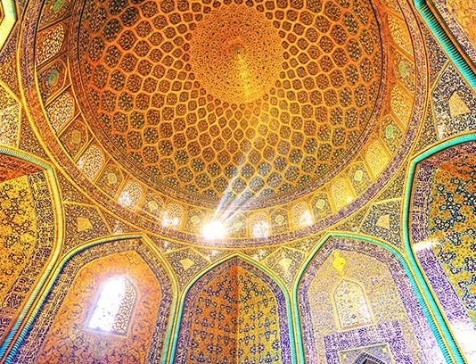 عکس گنبد مسجد شیخ لطف الله
