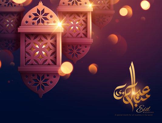 وکتور پس زمینه ماه رمضان