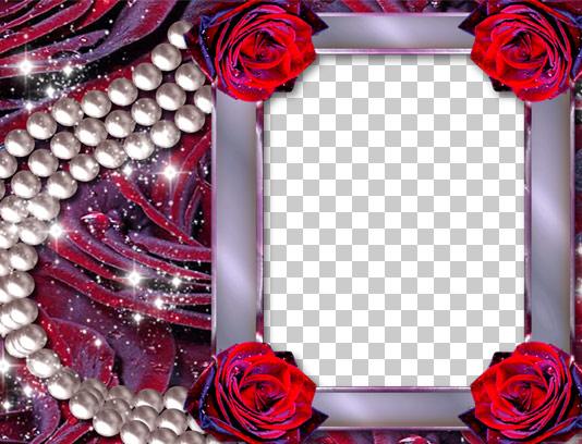 قاب عکس گل رز قرمز