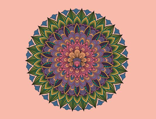 وکتور ماندالا رنگارنگ با کیفیت