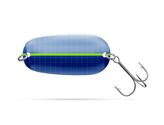موکاپ قاشقی فلزی ماهیگیری