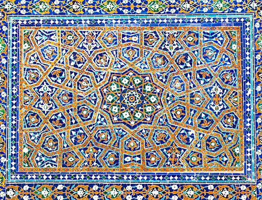 عکس کاشی کاری اسلامی قدیمی