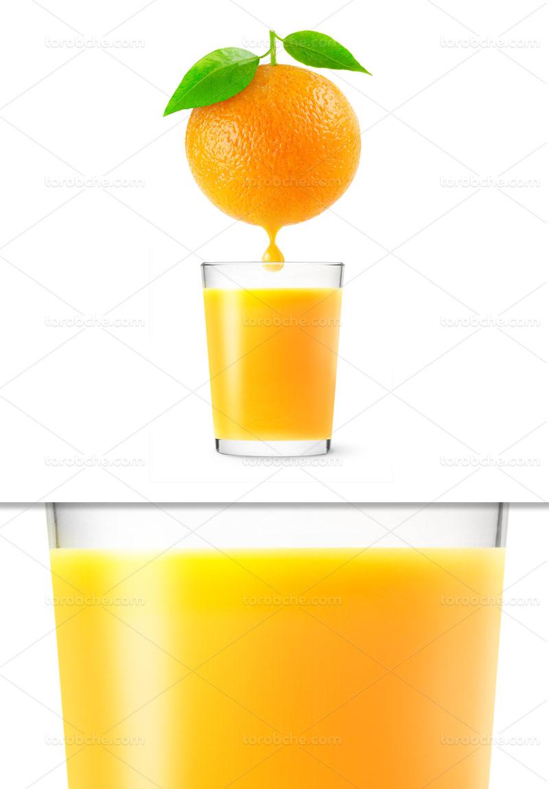 عکس آب پرتقال طبیعی