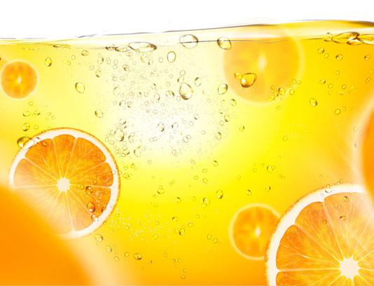 وکتور پس زمینه آب پرتقال