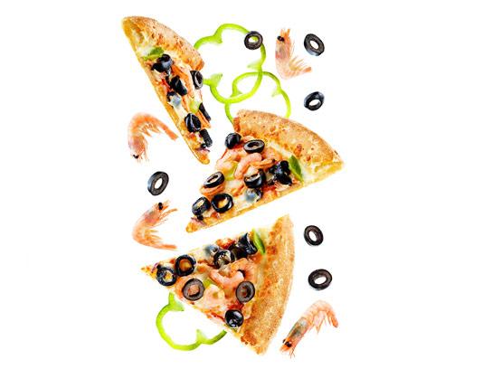 عکس پیتزا میگو با قارچ