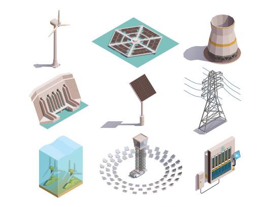 وکتور تولید انرژی خورشیدی