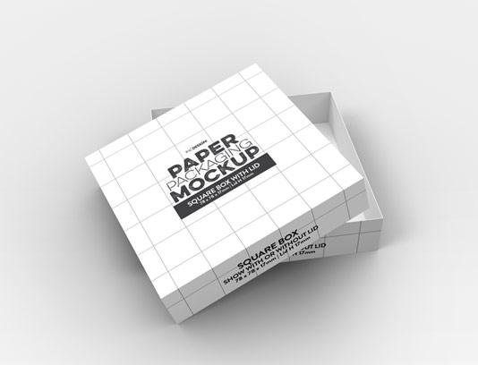موکاپ جعبه شیرینی مربع