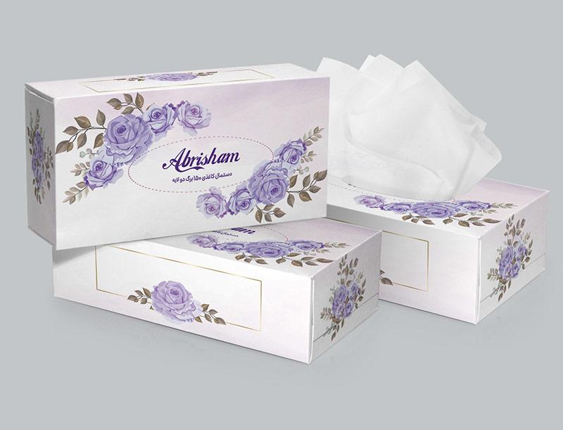 طرح جعبه دستمال کاغذی گل