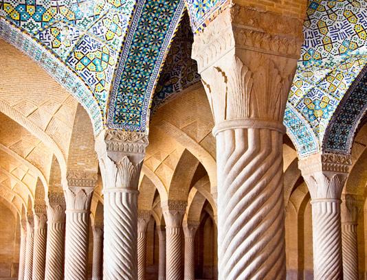 عکس شبستان مسجد وکیل