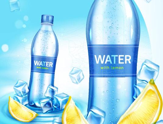 وکتور بطری آب معدنی با کیفیت