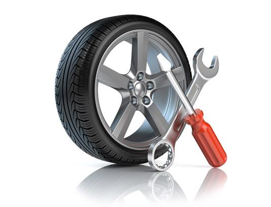 عکس تعمیر چرخ اتومبیل