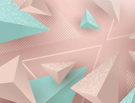 وکتور بکگراند مثلث سه بعدی رنگی