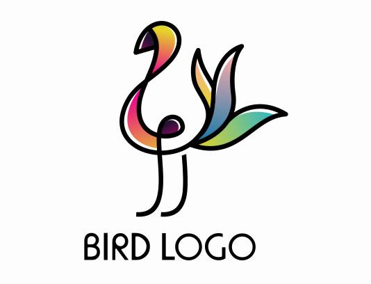 وکتور لوگو انتزاعی پرنده