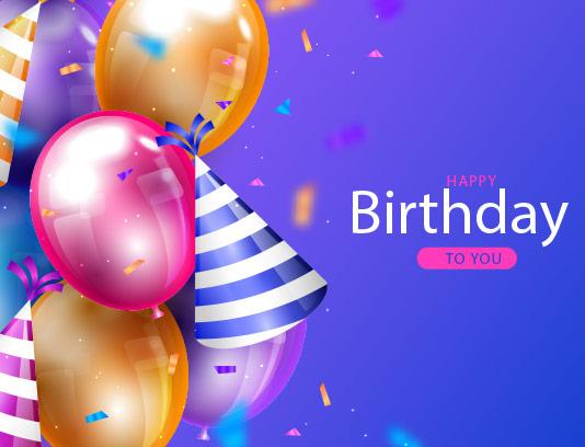 وکتور پس زمینه تبریک تولد