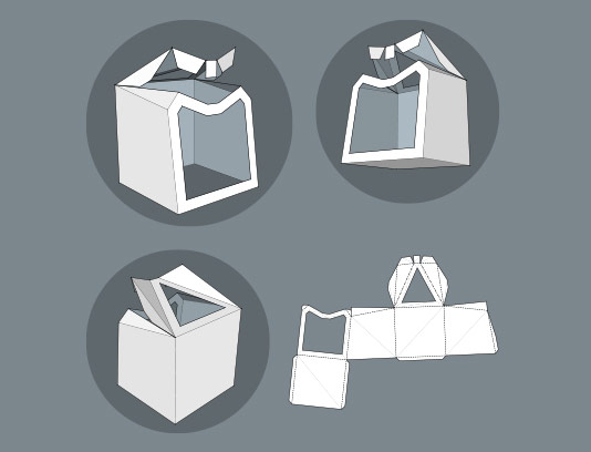 وکتور طرح گسترده جعبه خلاقانه