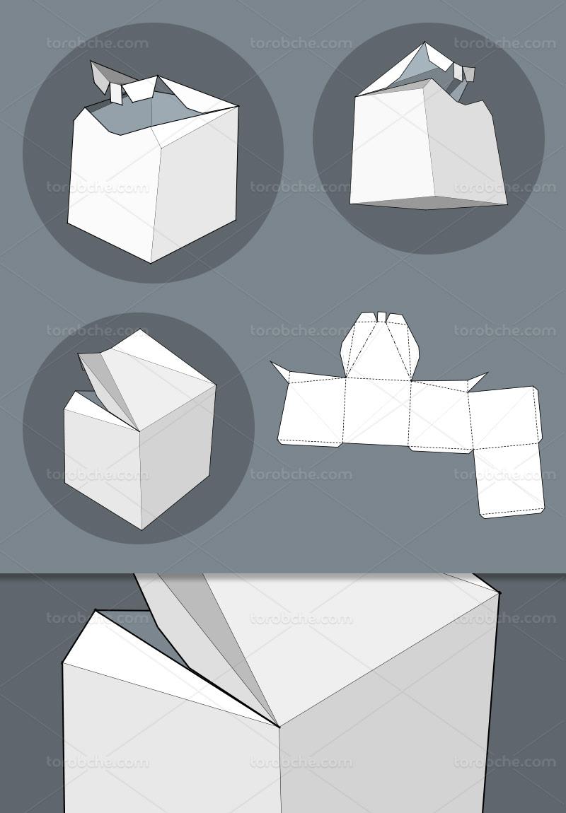 وکتور طرح گسترده جعبه مکعبی خلاقانه