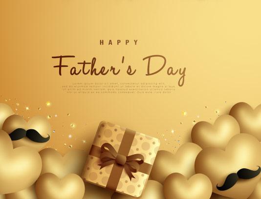 وکتور تبریک روز پدر طلایی