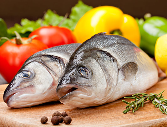 عکس ماهی با سبزیجات