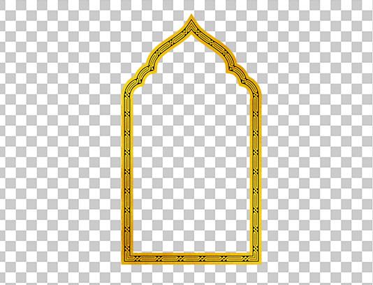 کادر طلایی رنگ اسلیمی