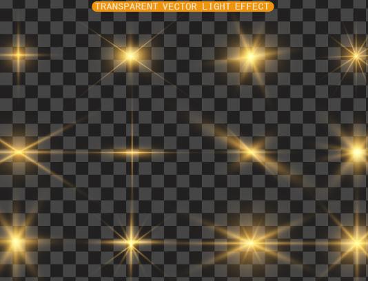 افکت نور ستاره ای درخشان