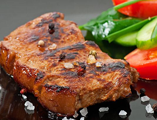 عکس گوشت گریل شده با سبزیجات