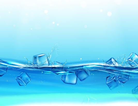 وکتور پس زمینه آب و یخ