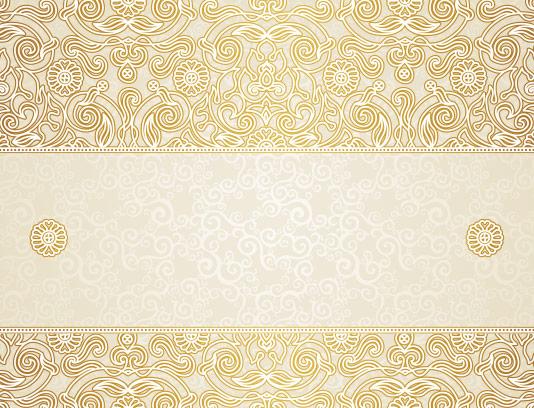 وکتور کادر اسلیمی طلایی