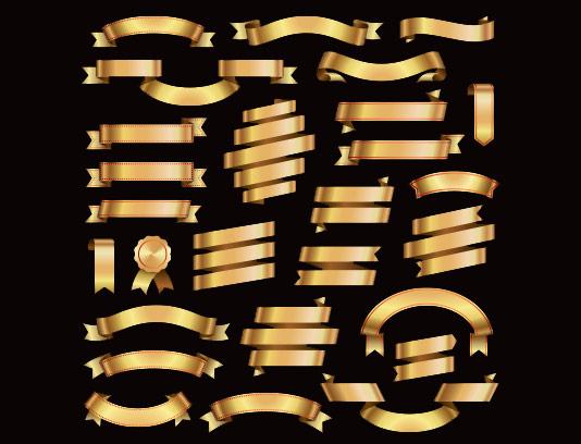 وکتور لیبل محصولات طلایی با کیفیت