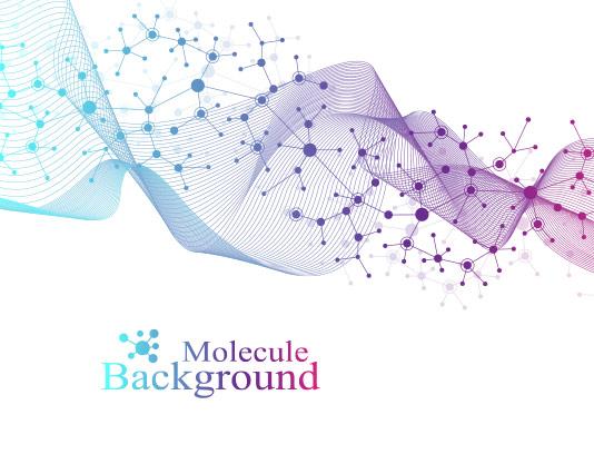وکتور پس زمینه مولکول