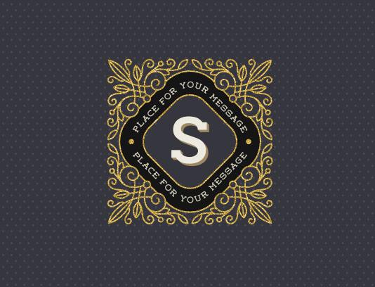 وکتور لوگو مونوگرام حرف لاتین S