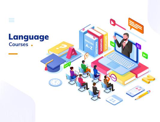 وکتور کلاس زبان آنلاین