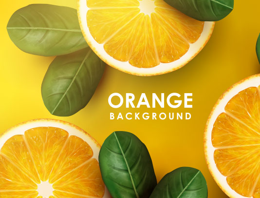 وکتور پس زمینه پرتقال