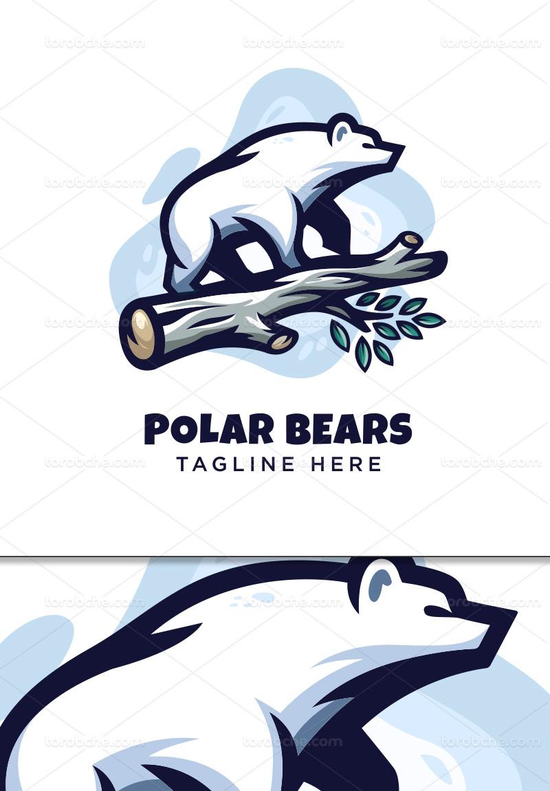 وکتور لوگو خرس قطبی سفید
