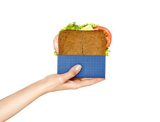 موکاپ بسته بندی ساندویچ
