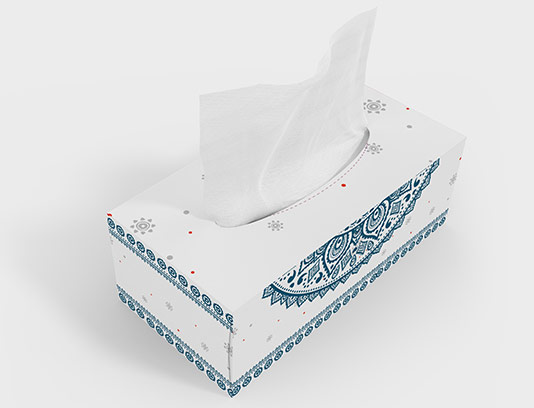 جعبه دستمال کاغذی سنتی آبی