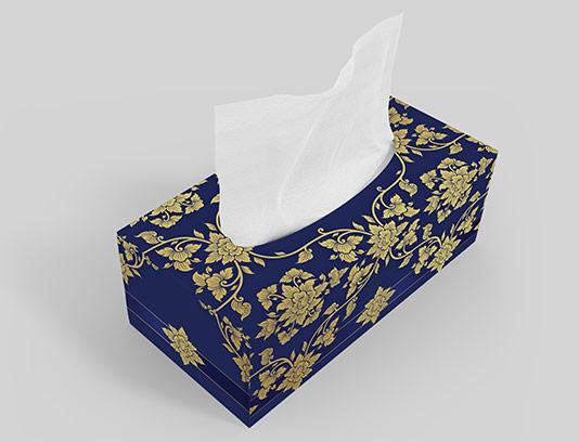 جعبه دستمال کاغذی لوکس آبی
