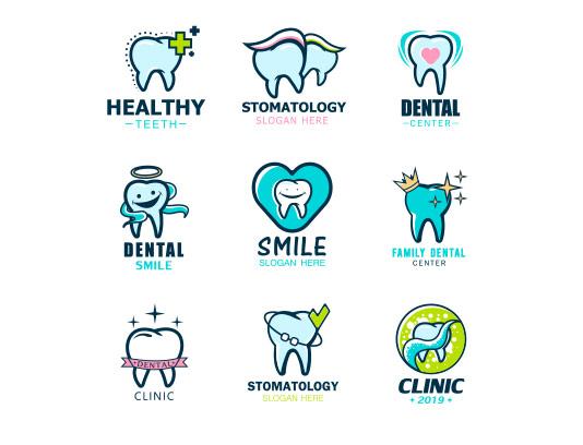 وکتور لوگو دندان با کیفیت