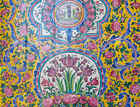 عکس کاشی کاری سنتی ایرانی