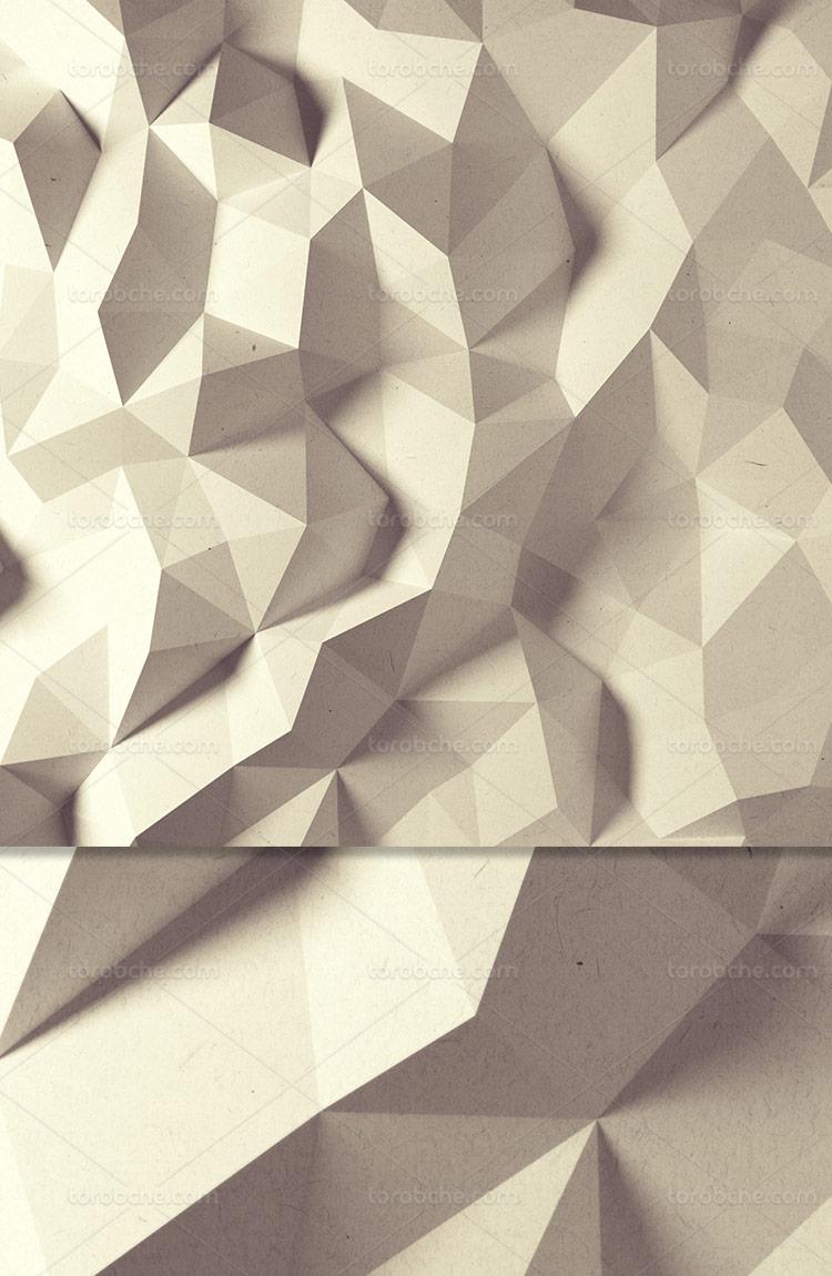 پس زمینه کاغذی سه بعدی