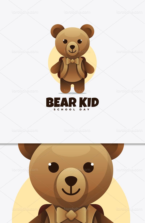 وکتور لوگو خرس خلاقانه