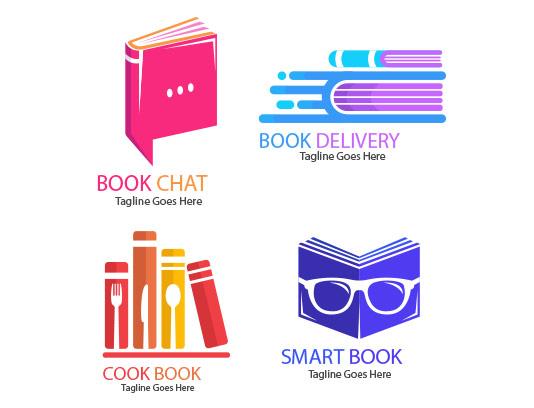 وکتور لوگوی کتاب خلاقانه