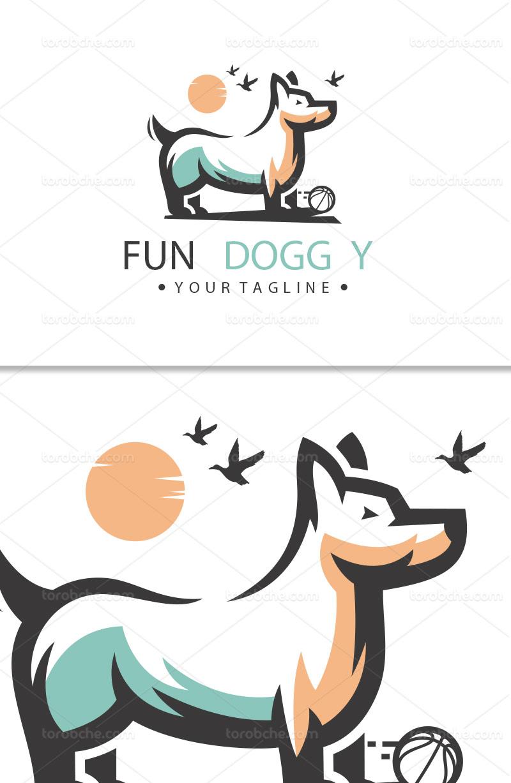 وکتور لوگو سگ بامزه