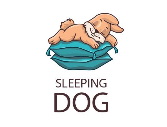 وکتور لوگو سگ خوابیده
