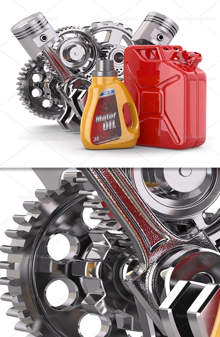 عکس روغن موتور با کیفیت