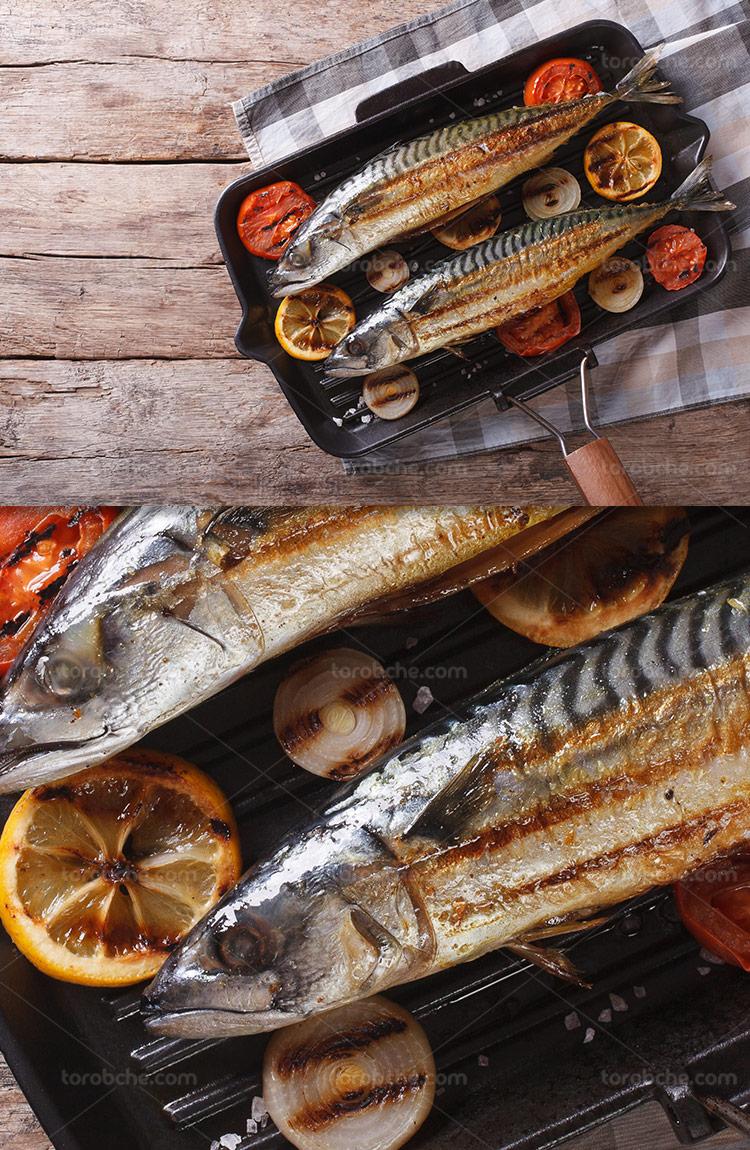عکس ماهی سرخ شده